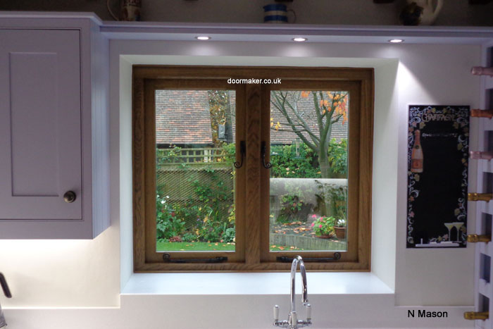 european oak window